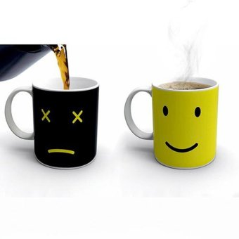 Iyach Heat Activated Design Smiley Face Changing Mug (Black) - 2