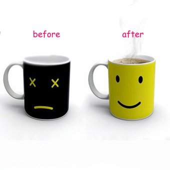 Iyach Heat Activated Design Smiley Face Changing Mug (Black) - 3