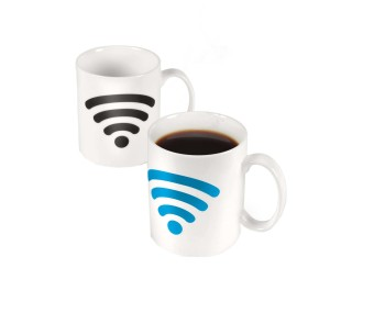 Iyach Heat Activated WiFi Design Changing Mug (White)