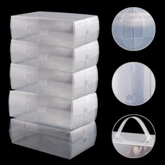 J&C Clear Plastic Shoe Storage Transparent Boxes Organizer 10pcs. - 2