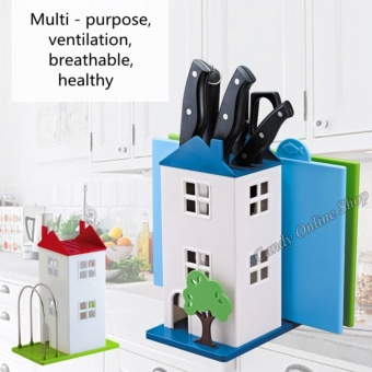 J&C Kitchen Plastic Knife Stand Storage Shelves Stand