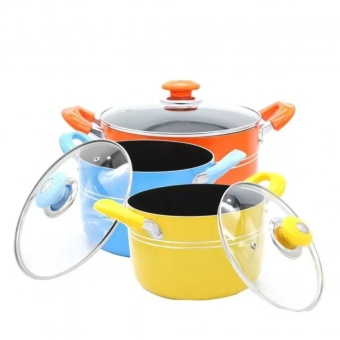 J&C Shop 6 Piece Non-Stick Cook Pot Set
