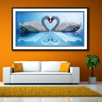 J&Cheart Swan Diy 5D Diamond Painting Cross Stitch Full DrillRhinestone Painting Decor No.8614