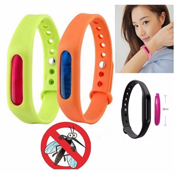 J&J Anti Mosquito Pest Insect Bugs Repellent Wrist BandBracelet Wristband Set of 2 (Random Color)