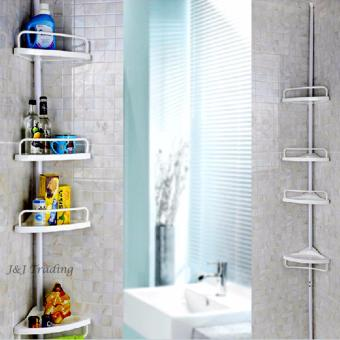J&J Large Multi Bathroom Corner Shelf (White)