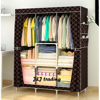 J&J Large Size Quality Fashion Simple Multifunction Cloth Wardrobe Storage Cabinets C-77130 Price Philippines