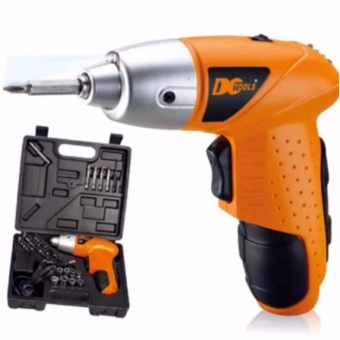 J&J Mini Portable Electric Drill Cordless Screwdriver 45pcsTOOLs (Orange)