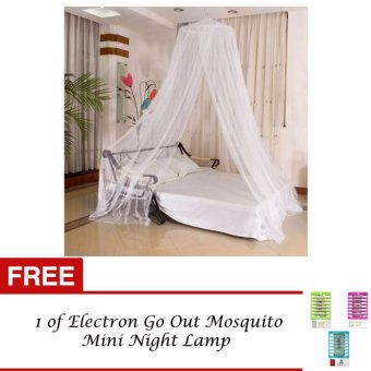 J&J Mosquito Net Bed Canopy King/Queen Size (White) with FREE 1of Electron Go Out Mosquito Mini Night Lamp Price Philippines