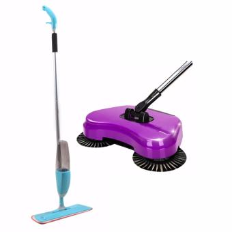 J&J New Water Home Spray Mop (Blue) with 360 Rotary Home Use Magic Manual Telescopic Floor Dust Sweeper