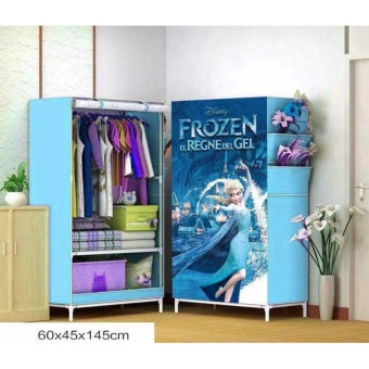 J&J Single 3D Pattern Non-Woven Folding Cloth Wardrobe HomeCloset (Frozen)
