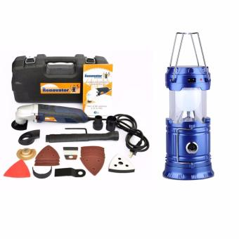J&J The Renovator Multi Kit Tools WITH Portable LED SolarCamping Lamp Rechargeable Lantern (Blue) Price Philippines