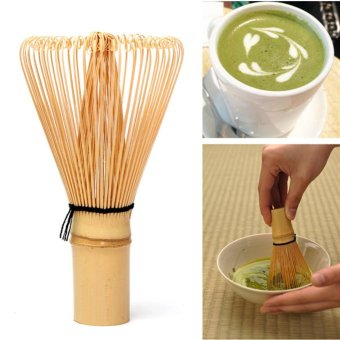 Japanese Ceremony Bamboo 64 Matcha Powder Whisk Green Tea Chasen Brush Too - 2