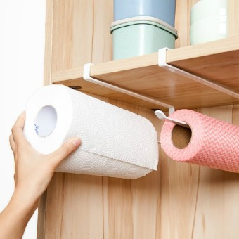 Japanese-style cabinet punched paper towel rack roll holder