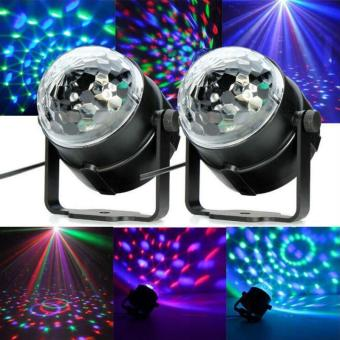 Jeebel 3W Mini RGB LED Crystal Magic Ball Stage Effect Lighting Lamp Bulb Party Disco Club DJ Light Laser Show Lumiere Beam EU Plug - intl