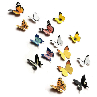 Jetting Buy 3D Butterfly Wall Stickers TV Background 15Pcs