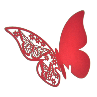 Jetting Buy Table Mark Wine Glass Butterfly Cards Set of 50 (Red)