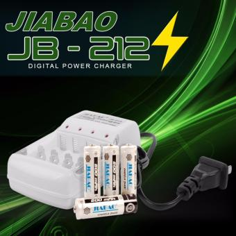 Jiabao JB-212 LED charger for AA and AAA with 4pcs RechargeableBattery