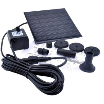 JIANGYUYAN 1.2 Watt Solar Power Water Pump Garden Fountain Submersible Pump (Black)