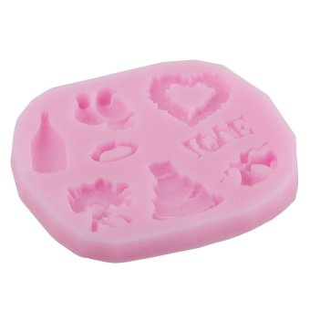 JIANGYUYAN Heart and Bird Party Fondant Molds Silicone Mold Sugarcraft Mold Bakeware Chocolates Mold,Random Color (Intl) - picture 2