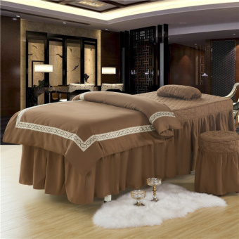 Jianyue solid New style beauty salon bedspread four sets