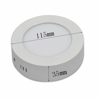 Jiawen LED Panel Light 6W cool white Surface Mounted LED Ceiling Lights AC90-265V Round LED Downlight - intl - 3