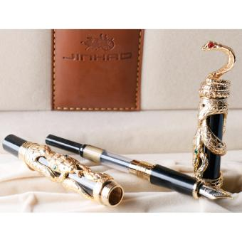 JinHao Gold Snake 3D Cobra Fountain Pen with 0.5mm Medium Nib Luxury Special meaning Classic pens