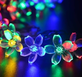 Jo.In 7M 50 LED Solar Flower String Light Waterproof Christmas Party Decor Light (Yellow) - picture 3
