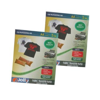 Jolly Fabric Transfer Light Paper A4 (5's) Set of 2