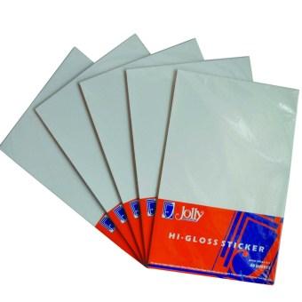 Jolly Higloss Sticker Long (20's) Set of 5 (White)