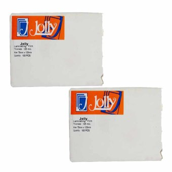 Jolly Laminating Film 75mm x 105mm x 125 micron Set of 2 Price Philippines