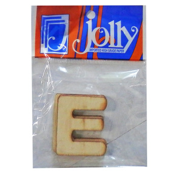 Jolly Wooden Craft Accessories Letter E 3's Set of 5 - picture 2