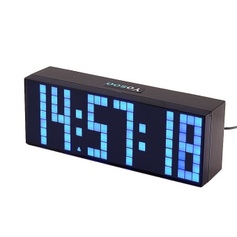 Jumbo Digital Electronic Clock LED Alarm Clock 6 digits (Blue)