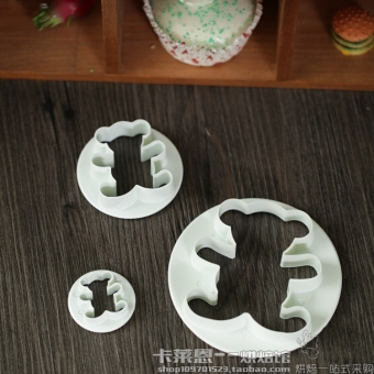 Kalaien baking cookie mold Bear 4 sets