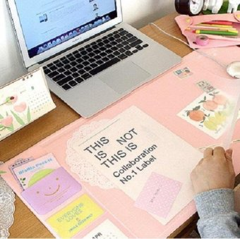 Kawaii Candy Color Office Mat Multifunctional Weekly PlannerOrganizer Desk Table Storage Memo Mat Learning Pad - intl