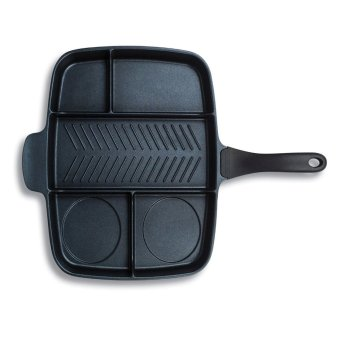 Keimav Multi Pan Non-Stick Multi-Section 5-in-1 Frying Grill FryOven Meal Skillet Multipan