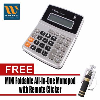 Kenko Electronic Calculator KK-800A (Silver) with Free MiniFoldable All-In-One Monopod with Remote Clicker (Black)