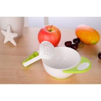 Kid Learning Dishes Grinding Bowl Baby Handmade Fruit Supplement Children Infant Food Mill Bowl - intl Price Philippines