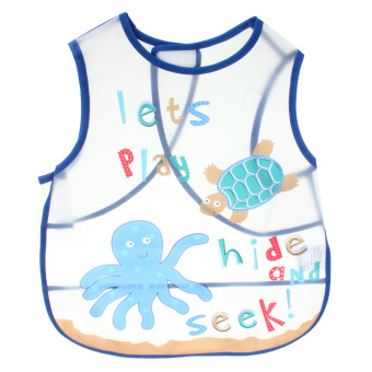 Kids Childs Arts Craft Painting Apron Baby Bib Messy Play Waterproof (blue) Price Philippines