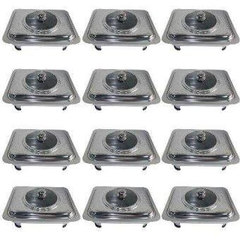 King's Rectangular Stainless Steel Food Warmer Tray Container Set of 12
