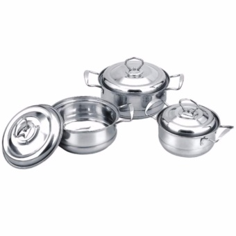 Kitchen 6pc Stainless Steel Camber Pots