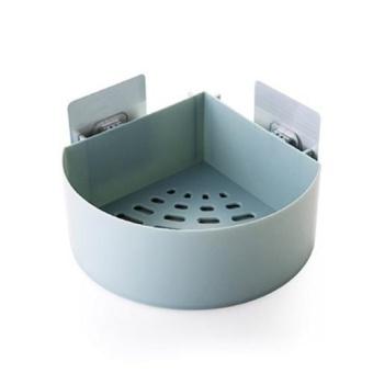 Kitchen Bathroom Corner Storage Holder Shelf Shower Caddy ToolOrganizer Rack Basket Sucker Cup - intl - 5