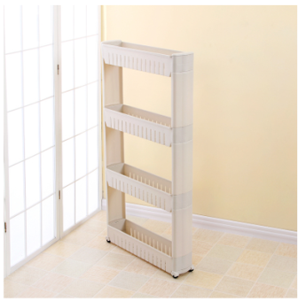 Kitchen bathroom refrigerator storage rack shelf