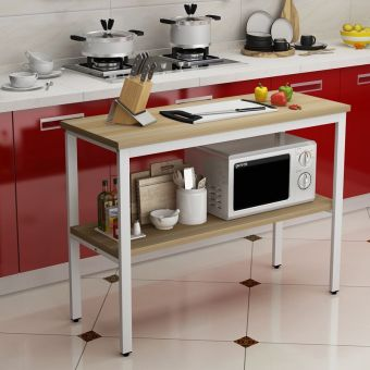 Kitchen cutting table Storage table storage rack kitchen shelf