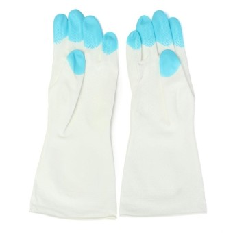 Kitchen Heat Resistant Silicone Glove Oven Pot Holder Baking BBQCooking Mitts Blue - intl