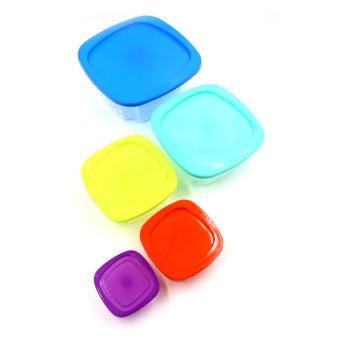 Kitchen Hub Food Storage Box Set of 5 (Multicolor) - 3