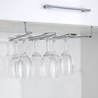 Kitchen iron wine cup rack