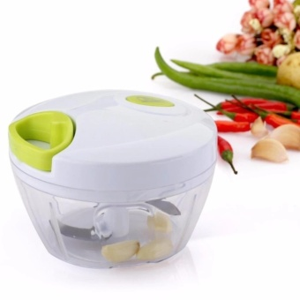 Kitchen Mini Chopper Food Pull Processor - for Vegetable, Fruit, Garlic, Herb, Onion, Pull Slicer Cutter Blender Tool (2 Blades) - intl