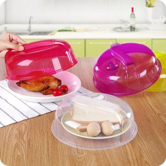 Kitchen Plastic Microwave Food Dish Cover Plate Steam Vent SplatterLid Tool New - intl