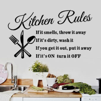 Kitchen Rules best Removable Vinyl Home fine DIY Decal Decor WallSticker - intl