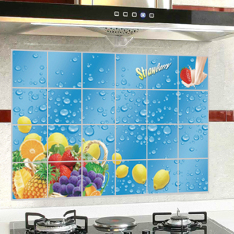 Kitchen self-adhesive oil resistant adhesive paper wall sticker
